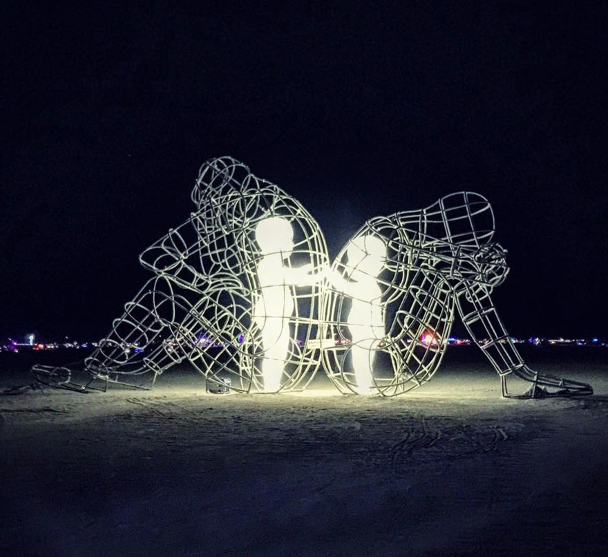 Credit: Alexander Milov; Photo Credit: thestevenjames mike writing write art sculpture