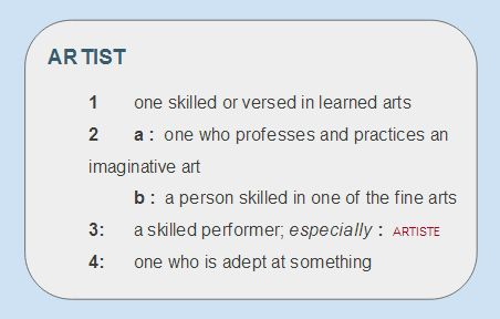 artist definition merriam webster mike writing